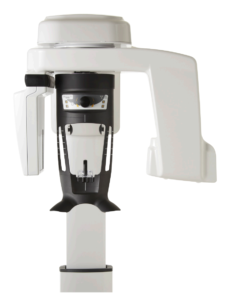 A dental EOS X-ray machine is pictured against a white background.