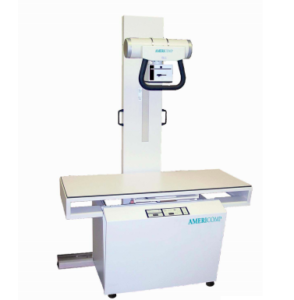 A veterinary digital X-ray machine is pictured against a white background. This type of device is used to take many types of Animal X-rays.